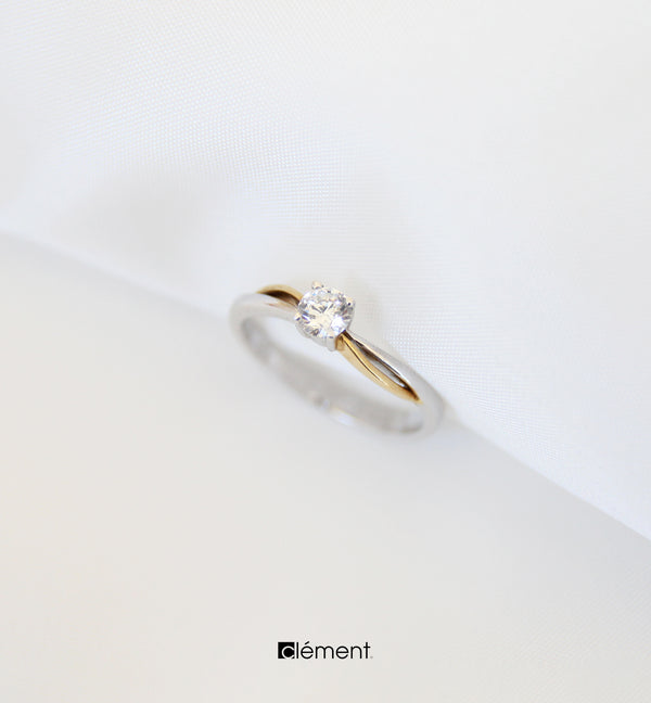 18ct Gold Two-Tone Ring