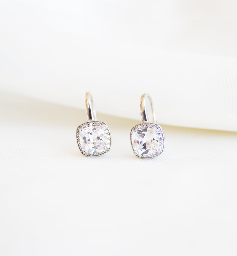 Silver 925 Bridal Earrings