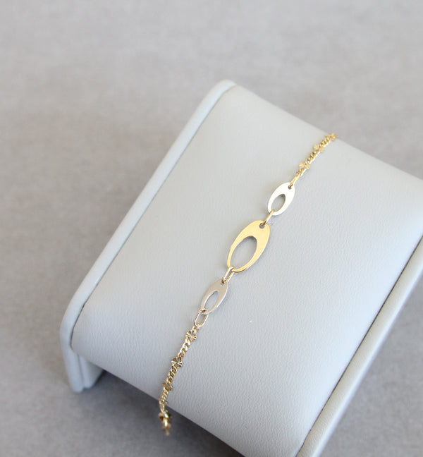18ct White & Yellow Gold Bracelet