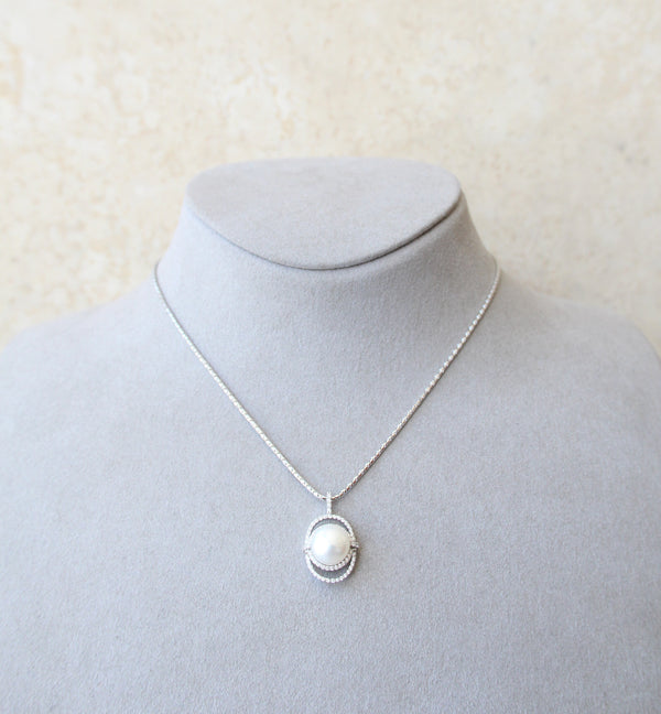 Silver 925 Cultured Pearl Necklace