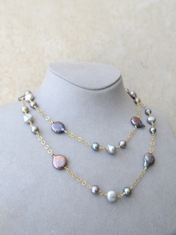 Silver 925 Fresh Water Cultured Pearl Necklace