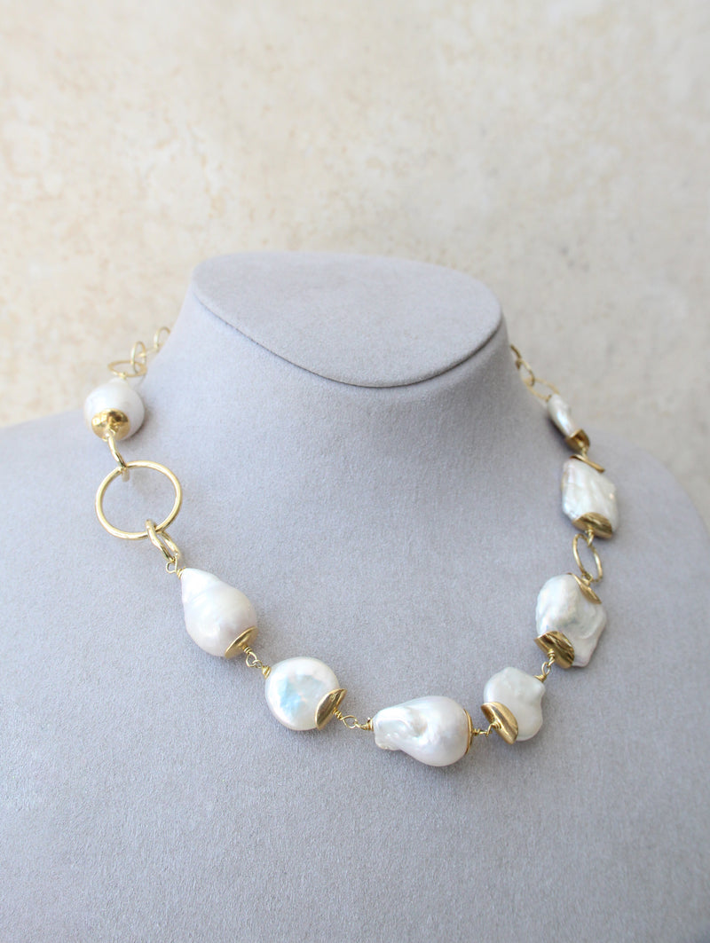 Silver 925 Baroque Pearl Necklace
