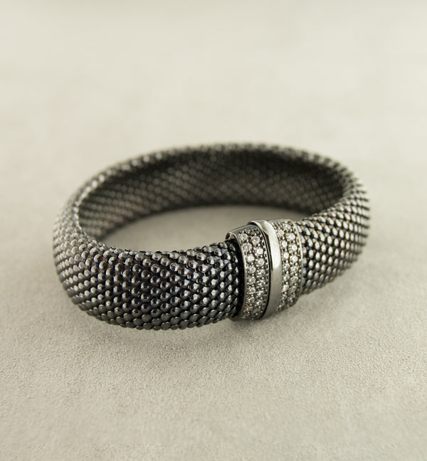 Silver 925 Black Rhodium Bangle