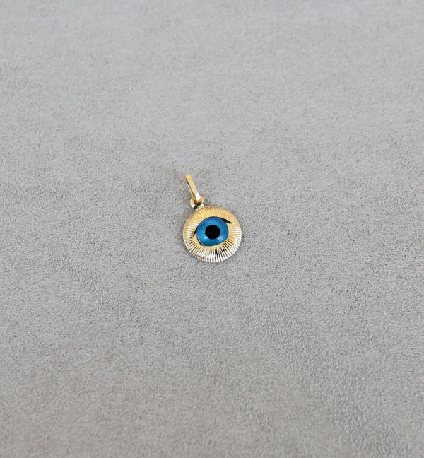 18ct Gold Evil Eye Pendant