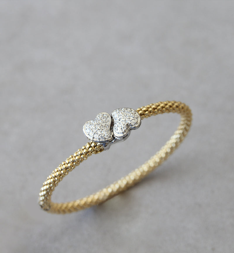Silver 925 Gold Plated Bangle
