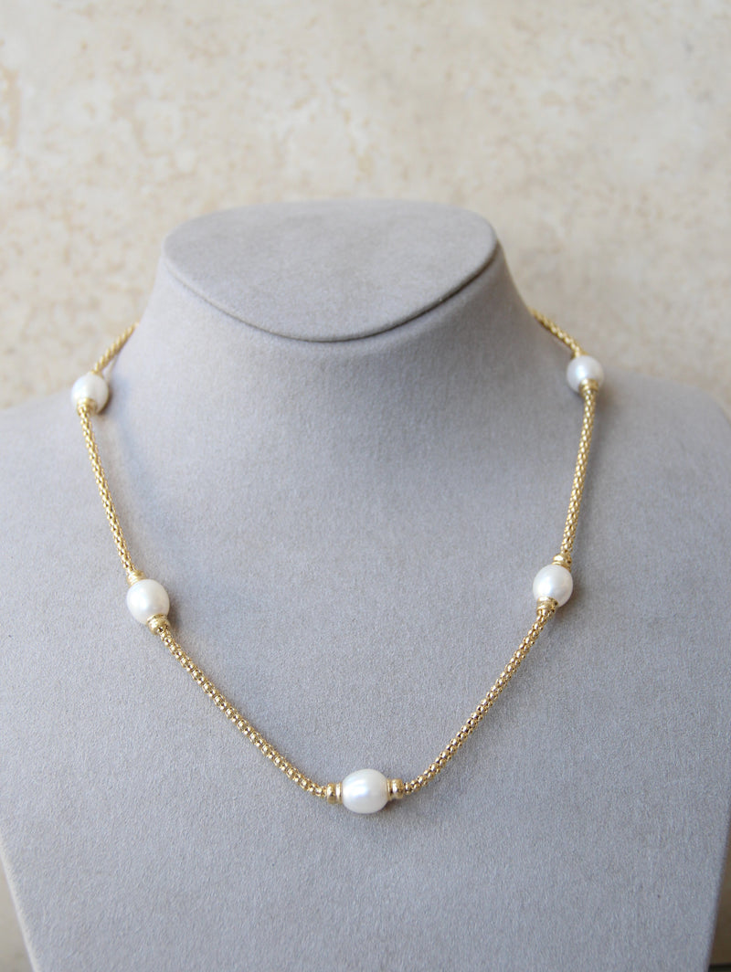 Silver 925 Necklace with Cultured Pearls