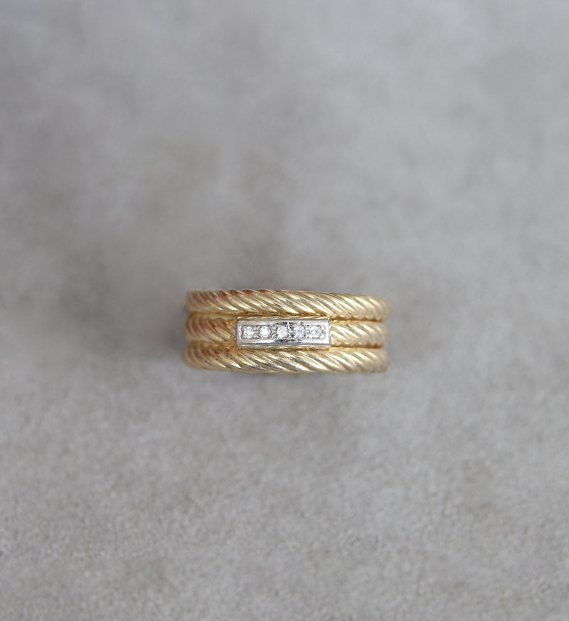 Silver 925 Gold Ring