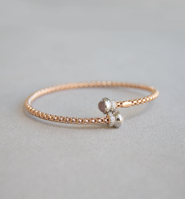 Silver 925 Rose Gold Bangle