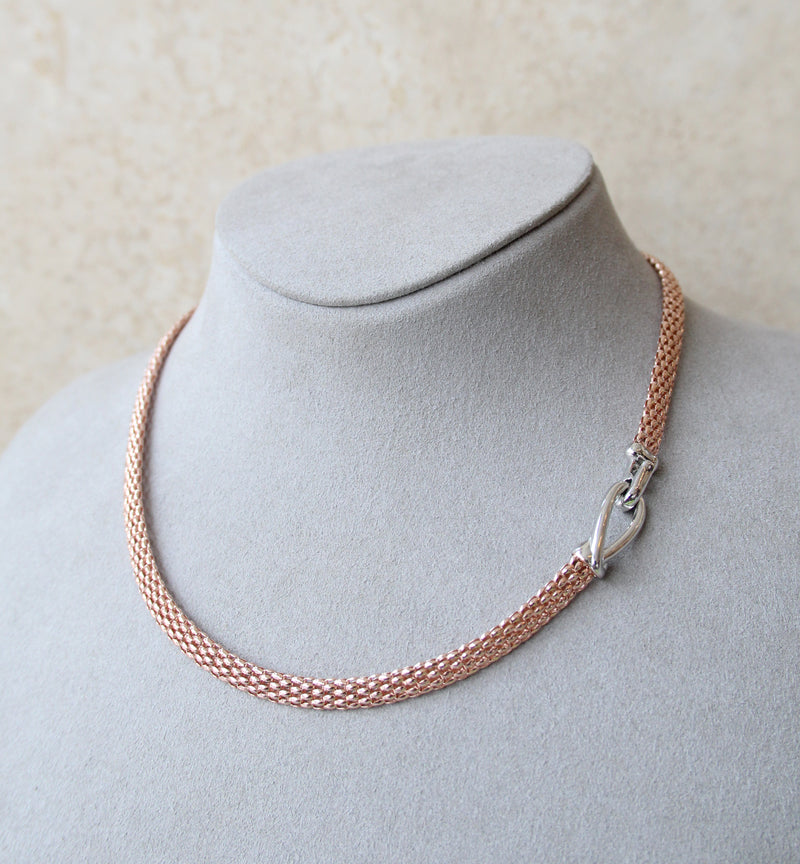 Silver 925 Rose Gold Necklace