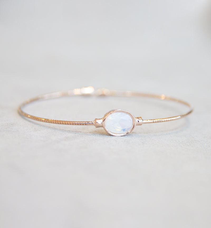 June Moon Stone Bangle