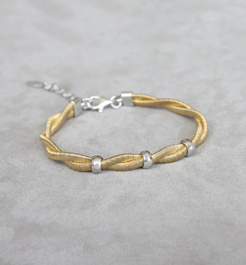 Silver 925 Gold Plated Bracelet