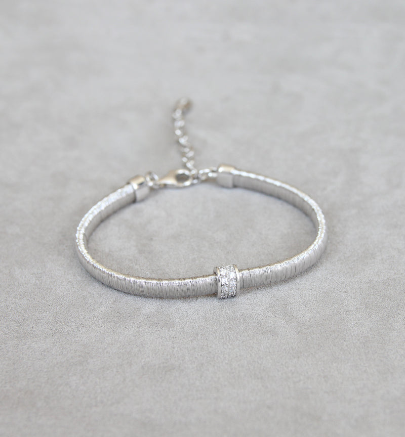 Silver 925 Bracelet with Zironia