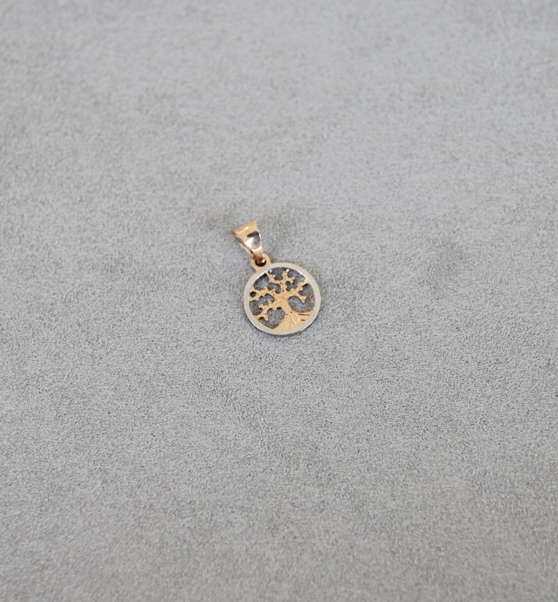18ct Gold Two-Tone Tree of Life Pendant