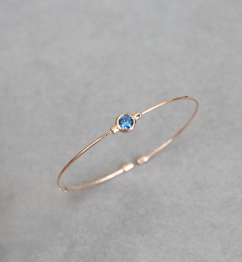 December Turquoise Birthstone Bangle