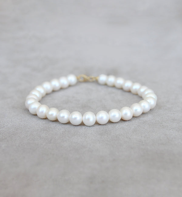 Cultured Pearl Bracelet With 18ct Gold Clasp