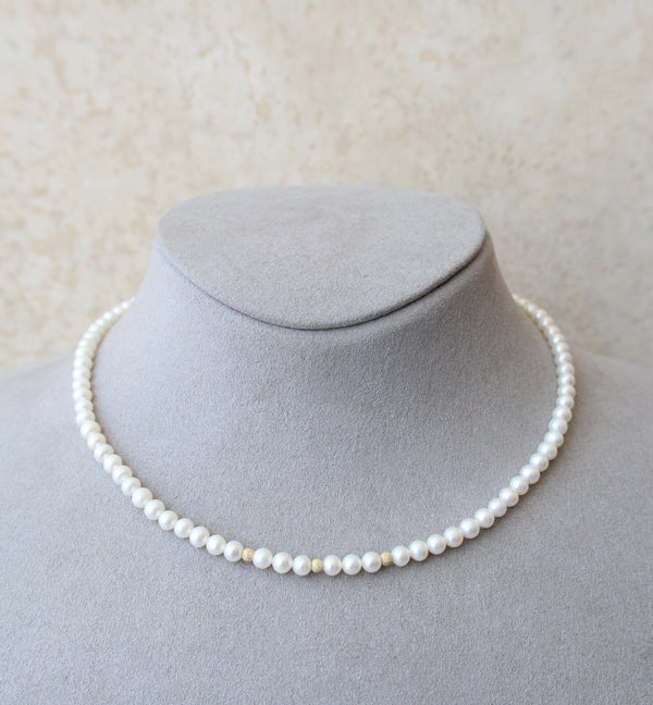 18ct Gold Cultured Pearl Necklace