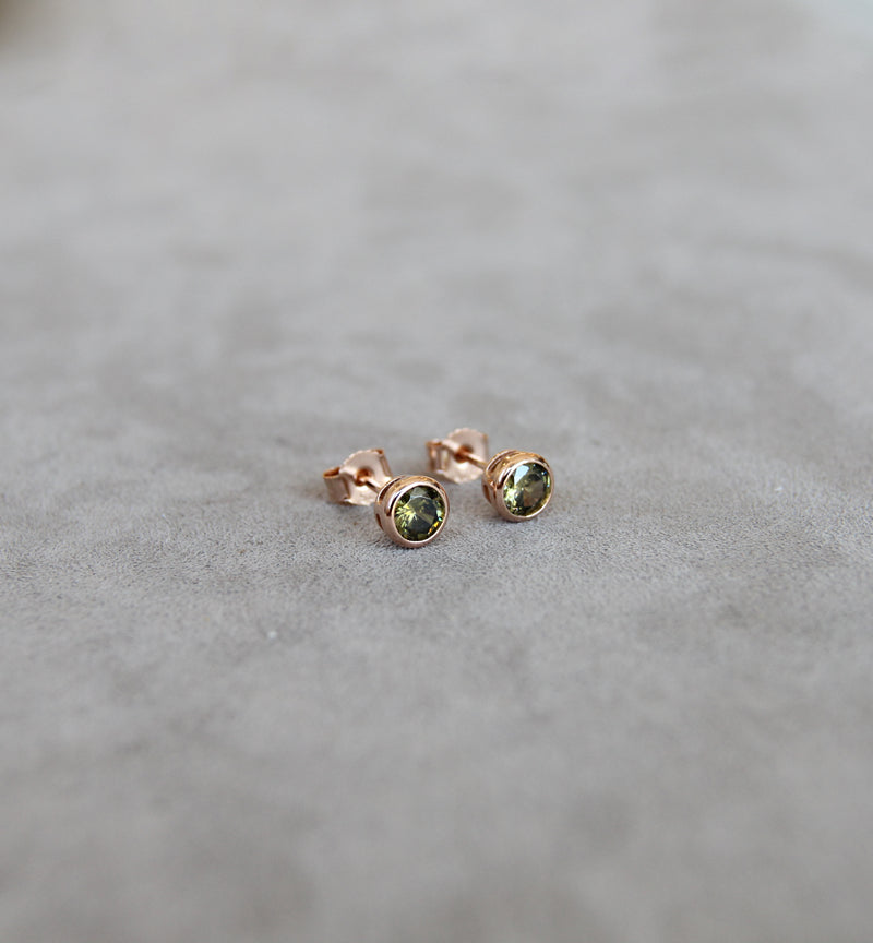 August Peridot Birthstone Earrings