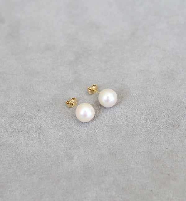 18ct Gold Cultured Pearl Earrings