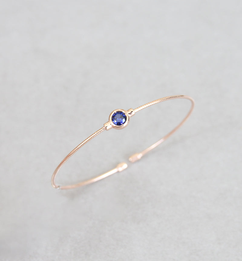 September Blue Sapphire Birthstone Bangle