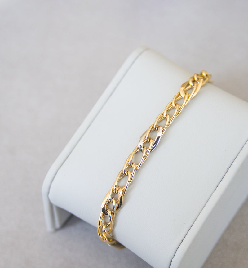 18ct Gold Two-Tone Bracelet