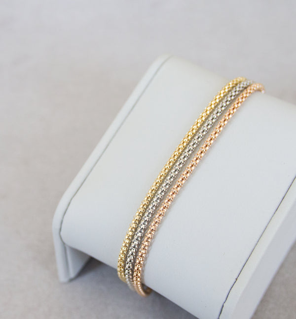 18ct Gold 3 Colour Bracelet