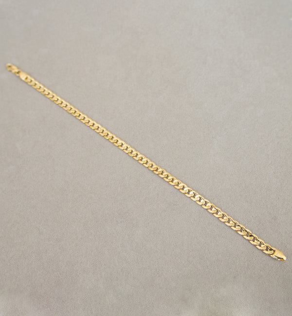 18ct Yellow Gold Cuban Chain Bracelet