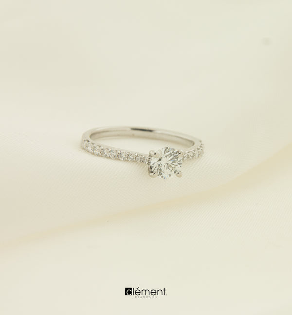 18ct White Gold Natural Diamond Ring
