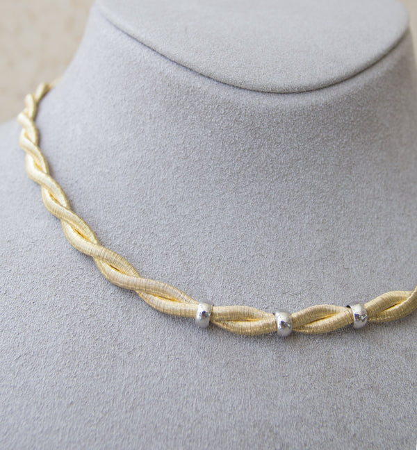 Silver 925 Yellow Gold Plated Necklace