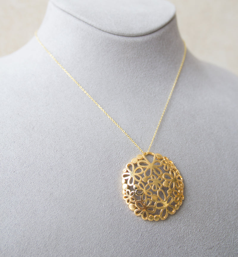 Silver 925 Yellow Gold Necklace