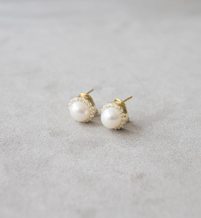 Silver 925 Fresh Water Cultured Pearl Earrings
