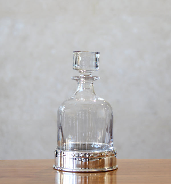 Crystal Decanter with Silver Coaster