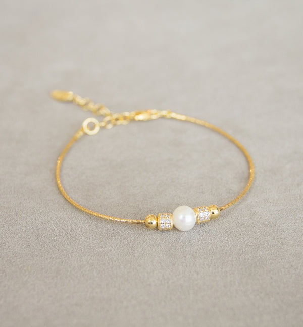 Silver 925 Bracelet with Cultured Pearl