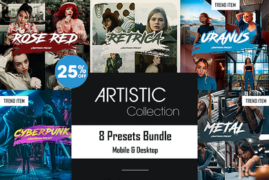 Artistic Collection - 8 Lightroom Presets Bundle (Mobile & Desktop)