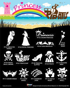 **NEW Princess & Pirates Stencil Set with Poster