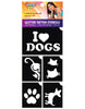 5 Piece I Love Pets Stencil Pack