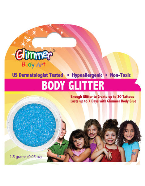 UV Neon Blue Body Glitter