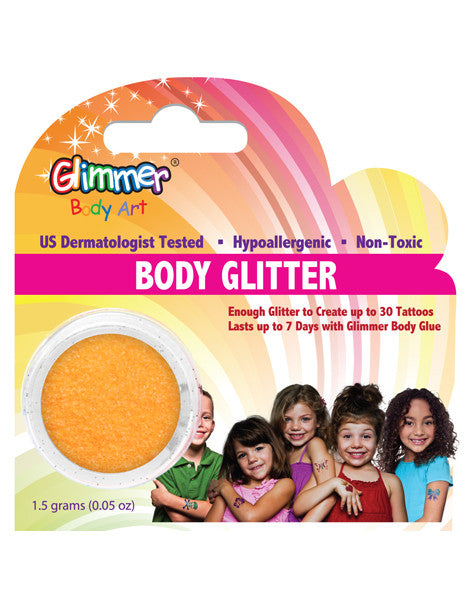 UV Neon Orange Body Glitter