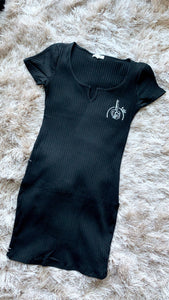 LBD mini logo dress