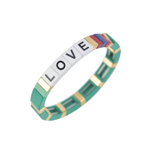 LOVE enameled bracelet