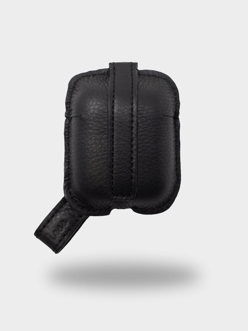 Apple AirPods Genuine Leather Protective Case - Charcoal Black