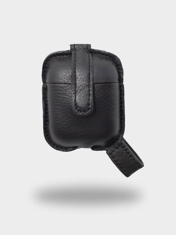 Leather AirPods Case - Charcoal Black