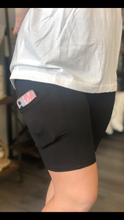 Load image into Gallery viewer, BLACK BIKER SHORTS