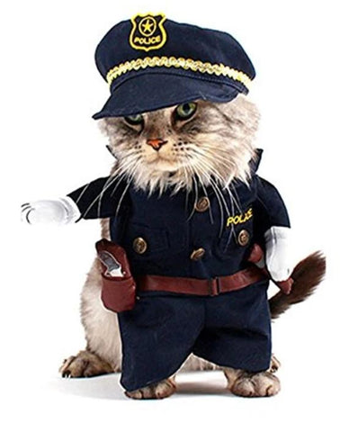 Costume Pour Chat Police
