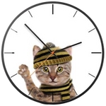 Horloge Chat Bonnet