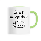Mug Chat <br> Chat M'Épuise