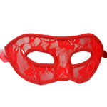 Masque Chat Dentelle rouge