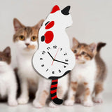 Horloge Chat <br> Queue Balancier