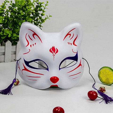 Masque Traditionnel Japonais Chat
