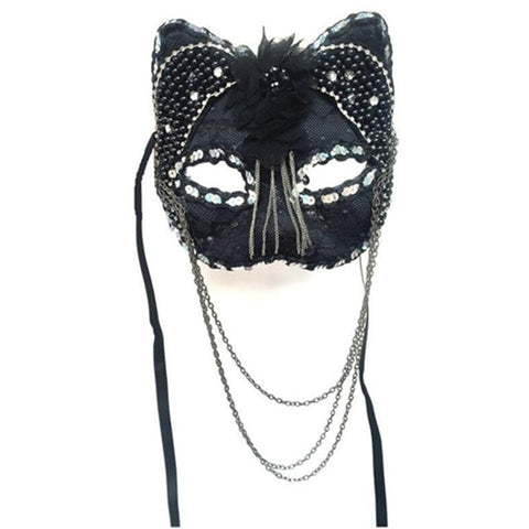 masque de carnaval chat