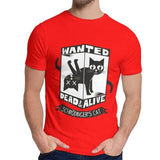 T-Shirt Chat Schrodinger rouge